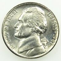 1987 P UNCIRCULATED JEFFERSON NICKEL BU B02