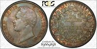GERMAN STATES: GERMANY 1843 2 THALER SILVER CROWN COIN WURTTEMBERG PCGS AU58