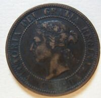 1888 CANADA LARGE CENT COIN. NICE GRADE C209