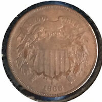 1868 2C TWO CENT PIECE [AUTO COMB. SHIPPING]27938
