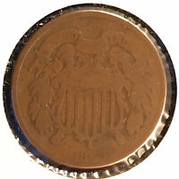 1866 2C TWO CENT PIECE [AUTO COMB. SHIPPING]28030