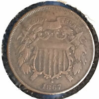 1867 2C TWO CENT PIECE [AUTO COMB. SHIPPING]27937