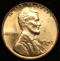 1949 D UNCIRCULATED LINCOLN WHEAT CENT PENNY BU B02