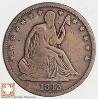 1843 O SEATED LIBERTY SILVER HALF DOLLAR 3560