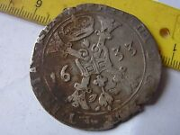 PATAGON 1633 OLD SILVER MEDIEVAL COIN
