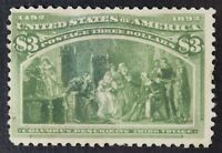 CKSTAMPS: US STAMPS COLLECTION SCOTT243 $3 COLUMBIAN UNUSED NG STAIN CV$750