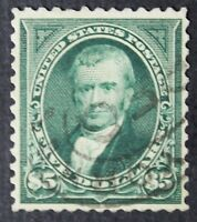 CKSTAMPS: US STAMPS COLLECTION SCOTT278 $5 MARSHALL USED SIGNED CV$625