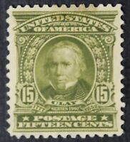 CKSTAMPS: US STAMPS COLLECTION SCOTT309 15C CLAY UNUSED NG STAIN