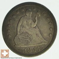 1847 SEATED LIBERTY QUARTER 8653