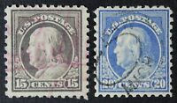 CKSTAMPS: US STAMPS COLLECTION SCOTT475 476 FRANKLIN USED