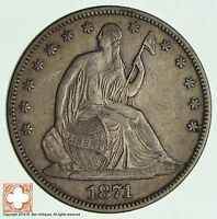 1871 SEATED LIBERTY SILVER HALF DOLLAR 2346