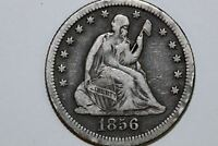 ONE NICE 1856 O SEATED LIBERTY QUARTER THAT GRADES FINE STOCK : SLQ427