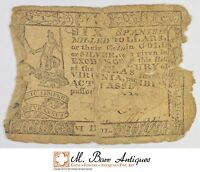 SEWN TOGETHER 1700'S $6.00 VIRGINIA COLONIAL CURRENCY 374
