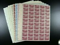 UNITED STATES MNH STAMPS - 74 FULL SHEETS - 3 CENT TO 13 CENT G594
