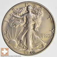 1940 S WALKING LIBERTY HALF DOLLAR 90 SILVER 9566