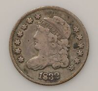 1832 CAPPED BUST SILVER HALF DIME G80
