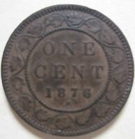 1876 CANADA LARGE CENT COIN. NICE GRADE C158