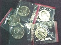 5   1984 D WASHINGTON QUARTERS FROM MINT SETS IN CELLO   BU