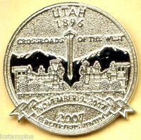 2007 UTAH STATE QUARTER LAUNCH CEREMONY LAPEL PIN