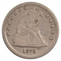1878 CC SEATED LIBERTY QUARTER DOLLAR  CARSON CITY J56