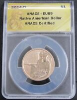 2014 D AMERICAN NATIVE AMERICAN $1 COIN AND CURRENCY SET