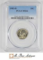 MS66 1983 D ROOSEVELT DIME   GRADED PCGS 1748