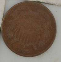 1870 TWO CENT PIECE Z80