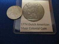 1774 SILVER EARLY AMERICAN COLONIAL COIN BEFORE US INDEPENDENCE 243 YEARS OLD