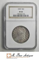 XF45 1830 CAPPED BUST HALF DOLLAR   GRADED NGC SC57