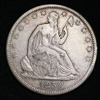 1858 S SEATED LIBERTY HALF DOLLAR CHOICE VF/XF  E328 CCT