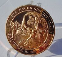 1830 SOUTH CAROLINA CANAL & RAILROAD FRANKLIN MINT SOLID BRONZE MEDAL