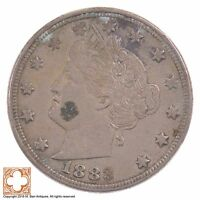 1883 LIBERTY HEAD NICKEL FIVE CENT WITHOUT CENTS Z98