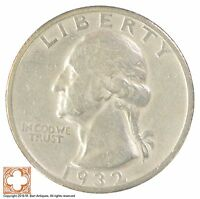 1932 S WASHINGTON QUARTER 90 SILVER SB85