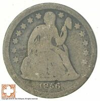 1856 SEATED LIBERTY SILVER DIME 7249