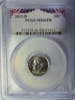 2013 D PCGS MS66FB ROOSEVELT DIME BUNTING LABEL BUSINESS STRIKE