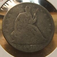 1878  SEATED LIBERTY SILVER HALF $  AG G  TOUGH DATE