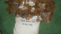 2 ROLLS OF WHEAT PENNY'S POSSIBLY 1909 TO 1958D A NICE MIX OF TEENS TO 50'S