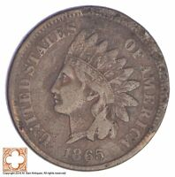 1865 INDIAN HEAD CENT - CIVIL WAR ERA YB65