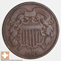 1864 TWO CENT PIECE 1702