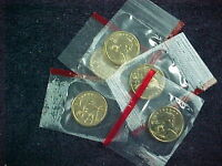 5   2000 D SACAGAWEA DOLLARS  BU FROM MINT SETS IN CELLO