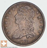 1835 CAPPED BUST QUARTER 1167