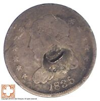 1835 CAPPED BUST HALF DIME CONDITION: DENT XB94