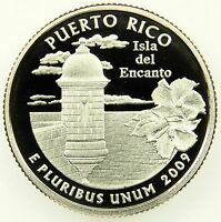 2009 S DEEP CAMEO CLAD PROOF PUERTO RICO WASHINGTON QUARTER B02