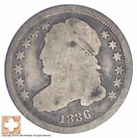 1836 CAPPED BUST DIME XB02