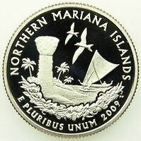 2009 S DEEP CAMEO CLAD PROOF NORTHERN MARIANA ISLANDS WASHINGTON QUARTER B03