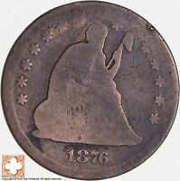 1876 SEATED LIBERTY SILVER QUARTER 5300