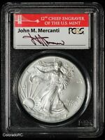 2012-S AMERICAN SILVER EAGLE BULLION COIN, PCGS MINT STATE 69 FIRST STRIKE