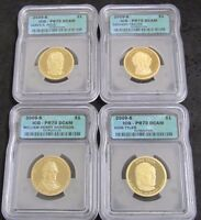 2009-S PROOF PRESIDENTIAL $ 4-COIN SET HARRISON/TYLER/POLK/TYLER ICG PR70 DCAM