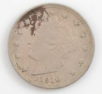 1910 LIBERTY HEAD NICKEL FIVE-CENT PIECE G77