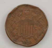 1870 TWO-CENT PIECE G12